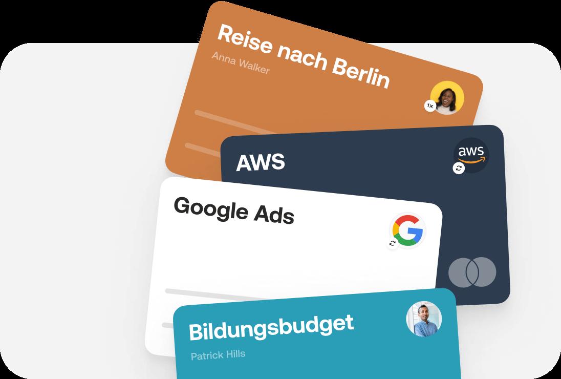 Virtuelle Kreditkarten für Reisen, Google Ads, Amazon, uvm.