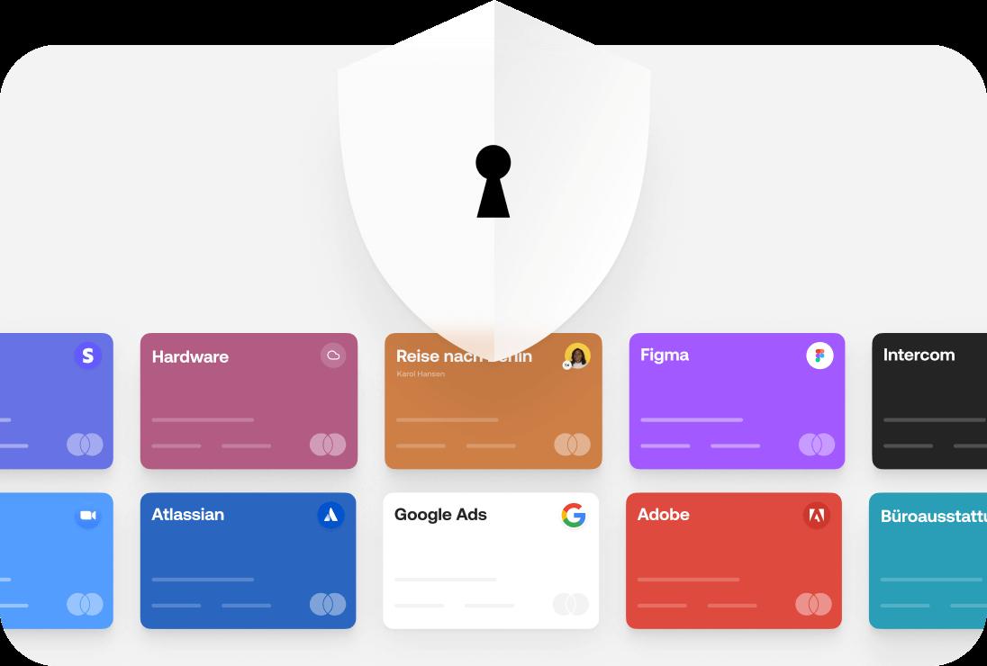 Sichere und geschützte Kreditkarten