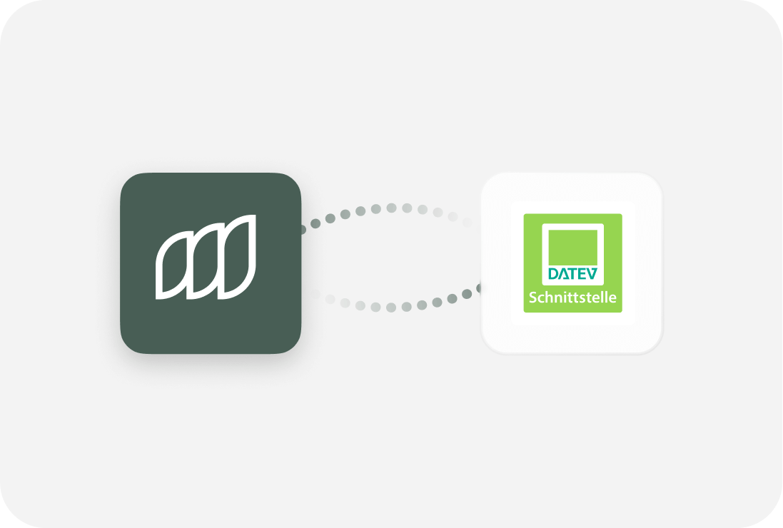 Export and transfer all bookings from the Moss app to DATEV Schnittstelle