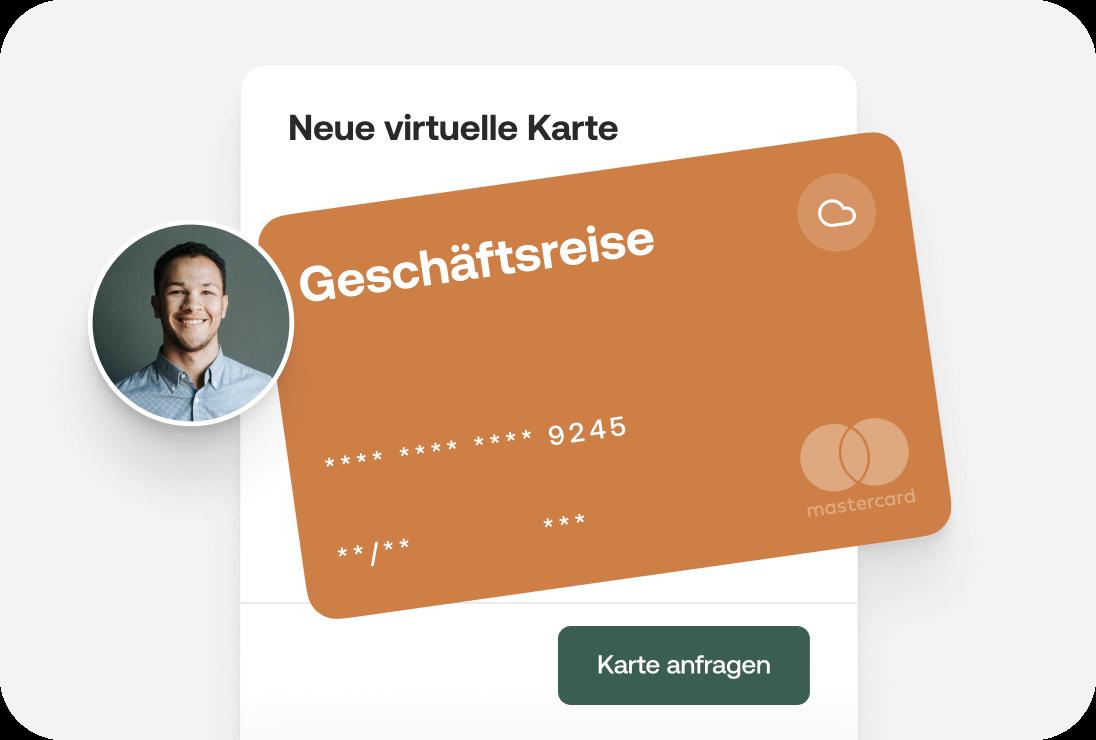 virtuelle Kreditkarte fuer Geschaeftsreise erstellen