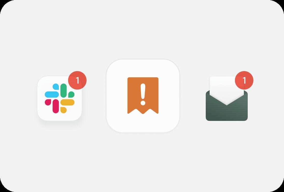 Automatische Benachrichtigungen per E-Mail oder Sleck, wenn ein Beleg fehlt.