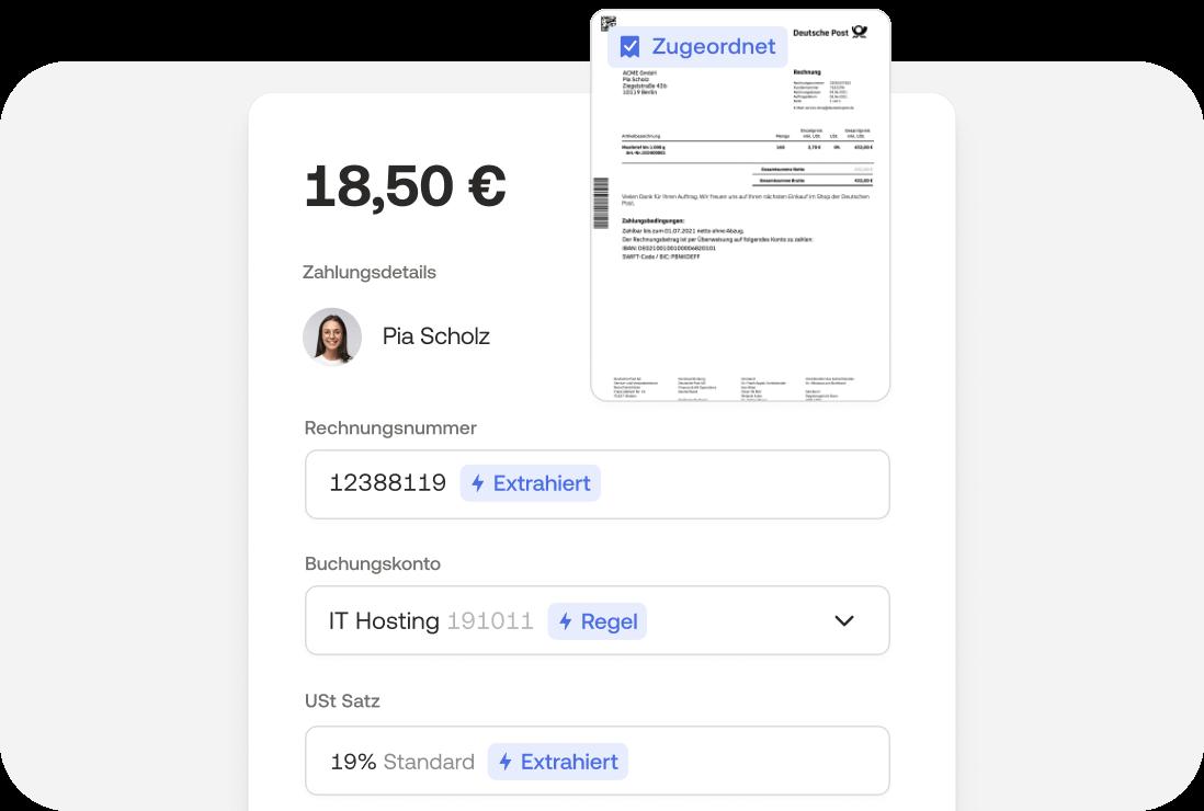Ausgaben tracken und Belege direkt zuordnen in der Moss App