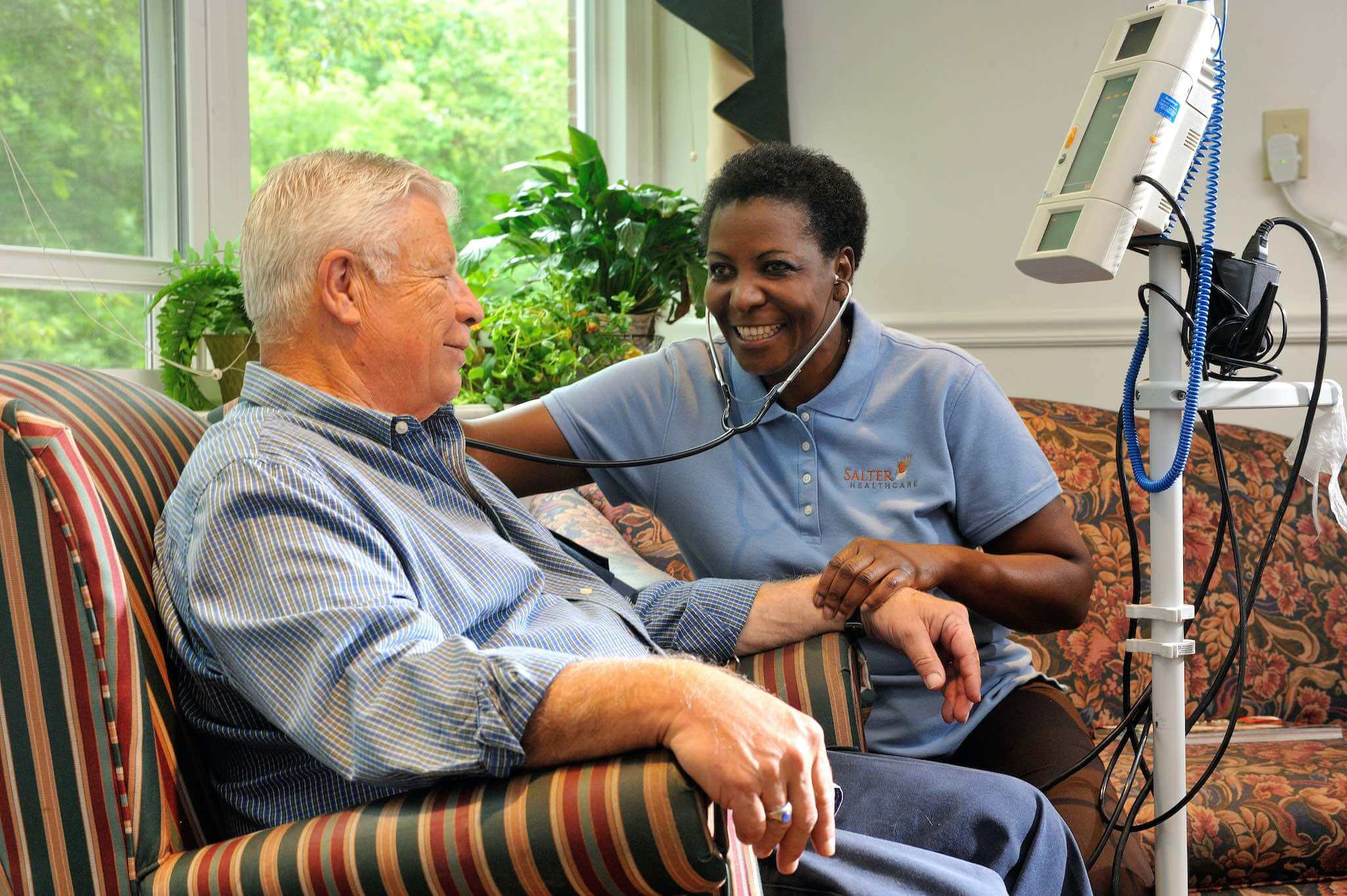 Salter Healthcare Nurse and Patient
