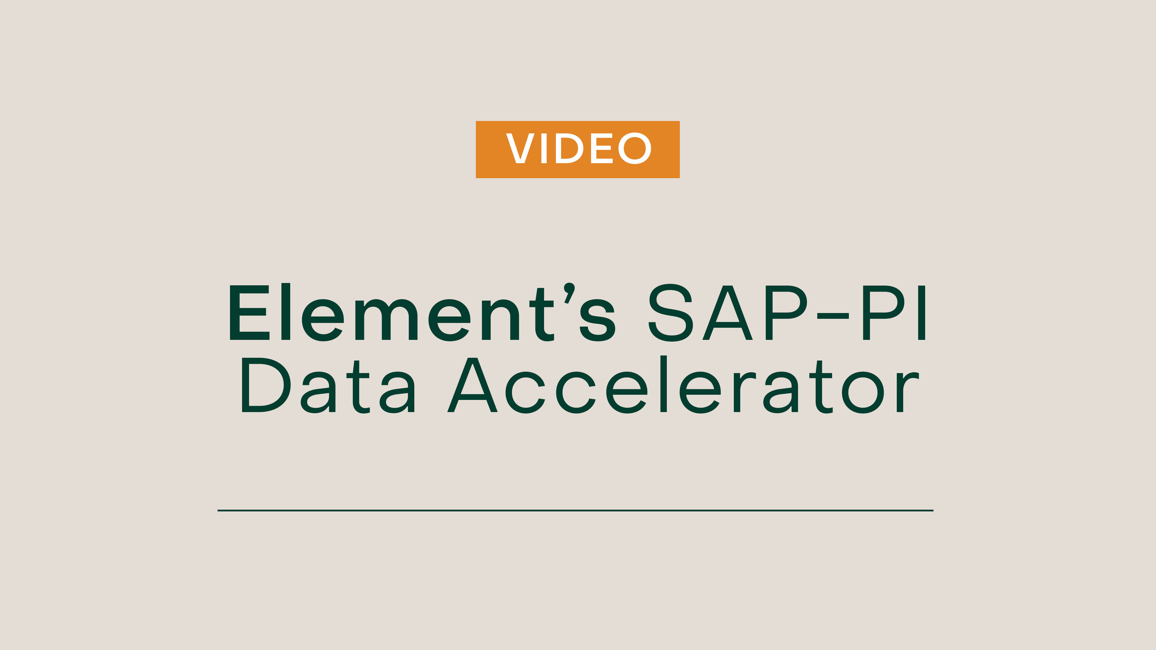 Build Unified SAP and PI System Asset Data Models