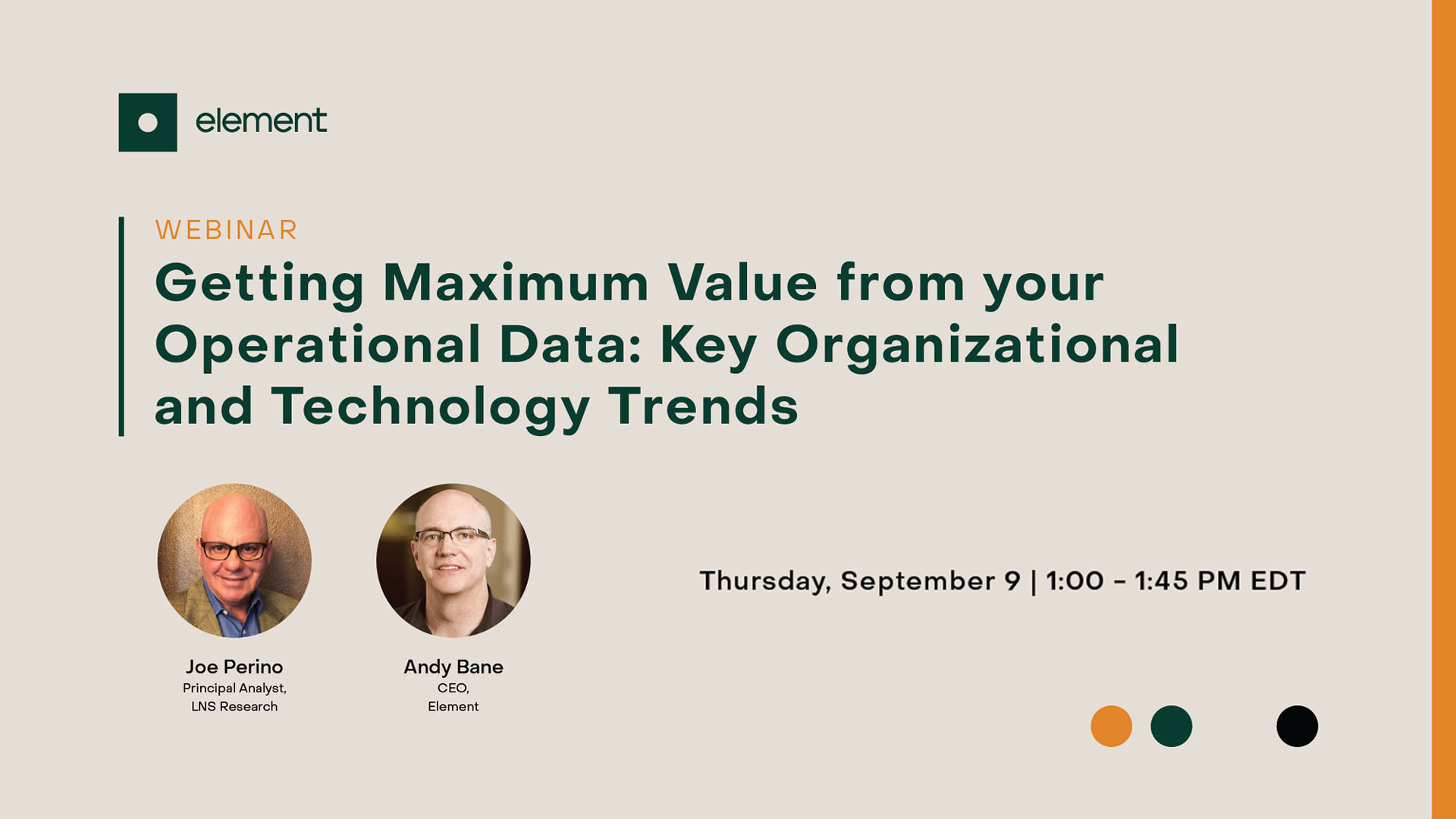 Getting Maximum Value From Your Operational Data