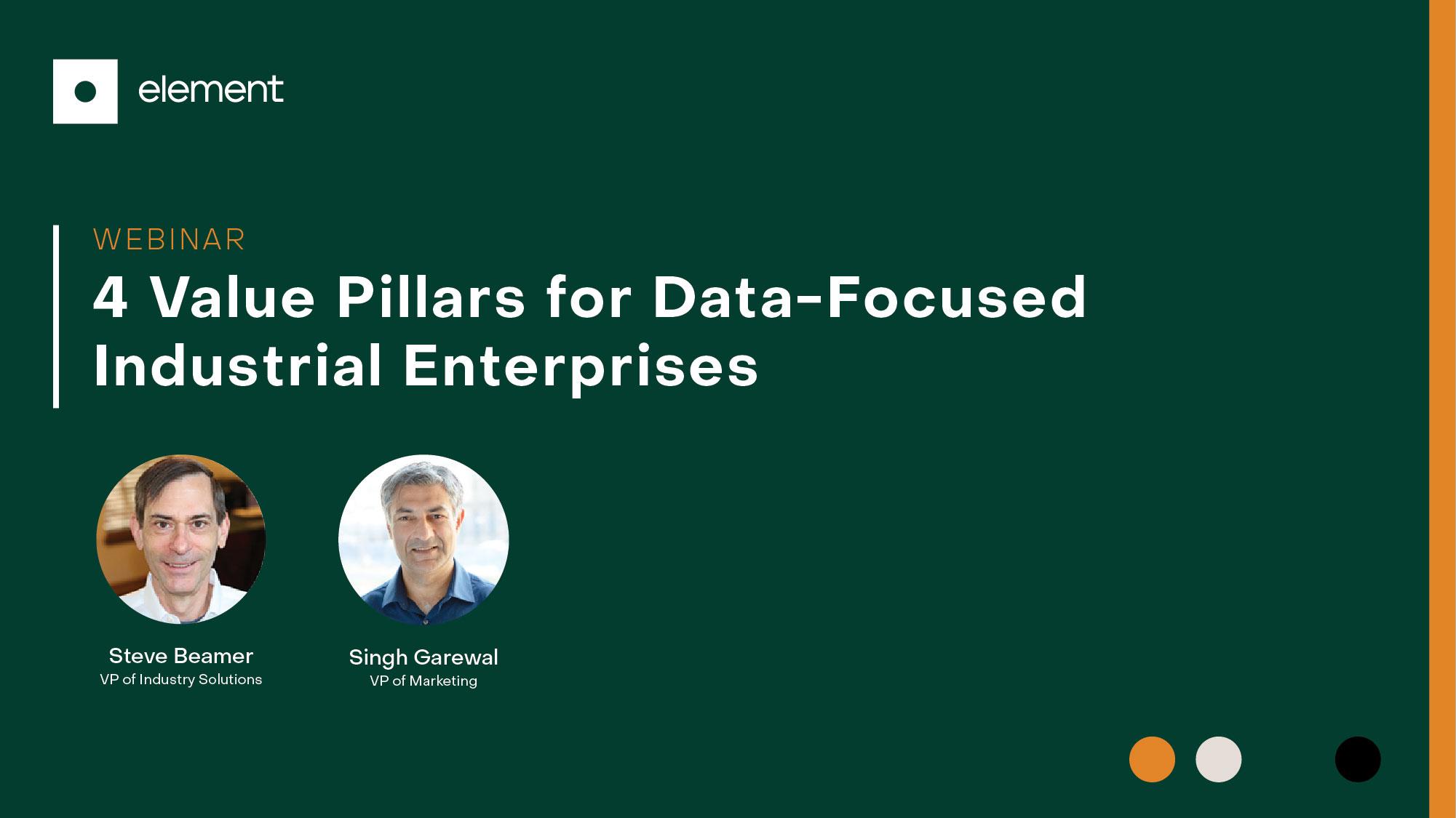 4 Value Pillars for Data-Focused Industrial Enterprises