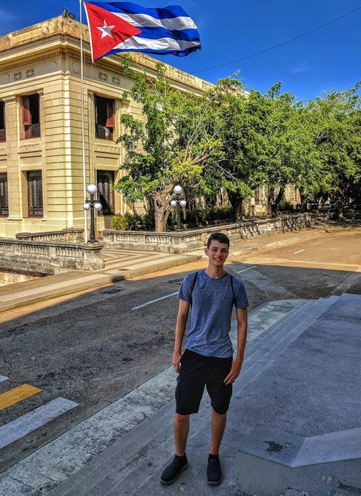 Matthew at the University of Havana