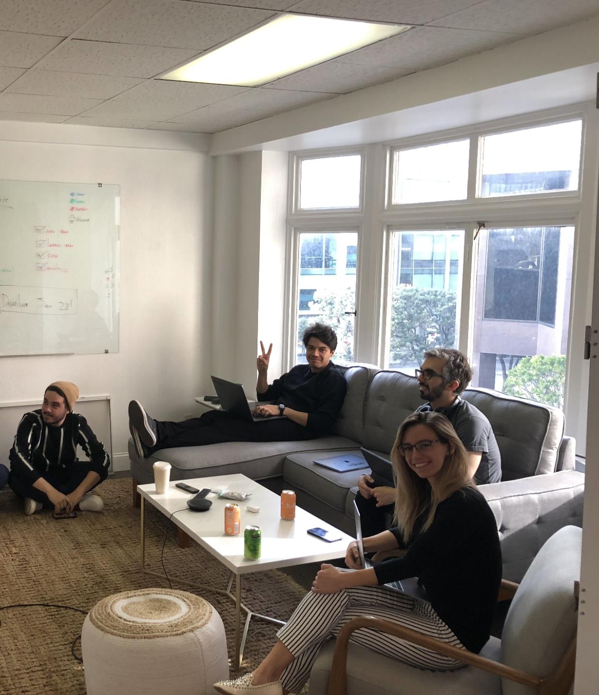 Origin employees in office