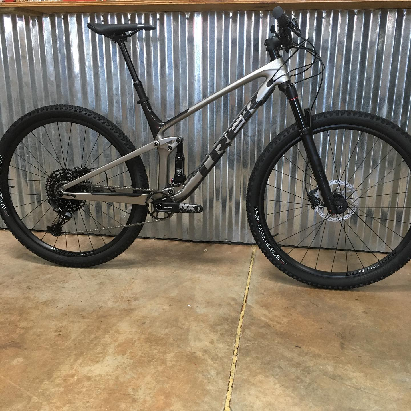 New arrival Trek Top Fuel 9.7. Size M/L. Full carbon frame with SRAM NX Eagle drivetrain. $3999.99. Call the shop for more details.