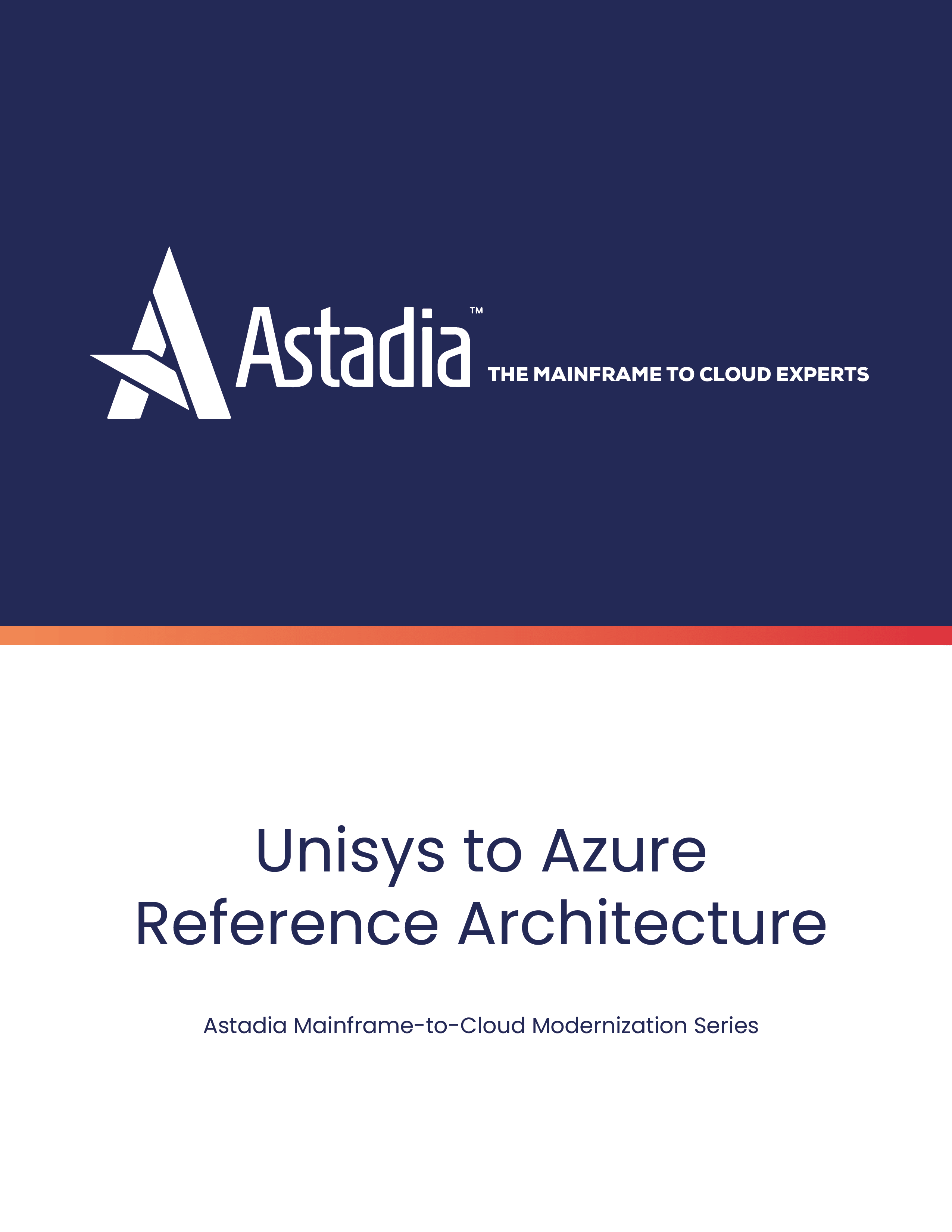 Unisys Mainframe to Microsoft Azure Reference Architecture