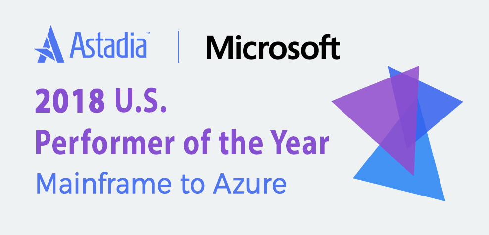 Microsoft top performer mainframe to azure award