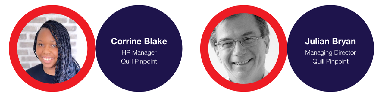 HR Manager at Quill Pinpoint - Corrine Blake and Managing Director - Julian Bryan