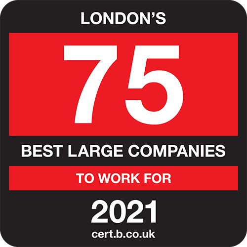 London's 75 Best Large Companies to Work For list logo