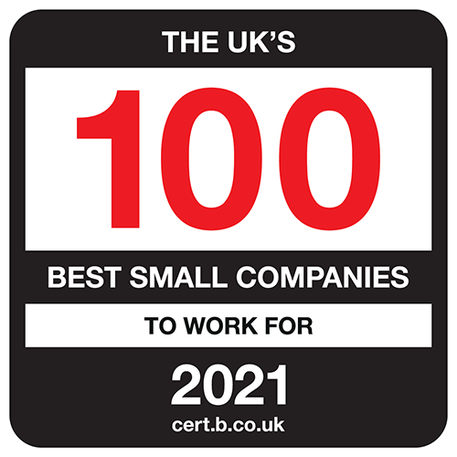 The UK's 100 Best Small Companies to Work For list logo