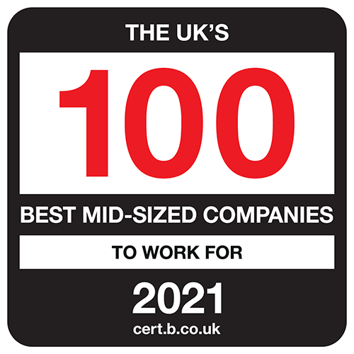 The UK's 100 Best Mid-Sized Companies to Work For list logo