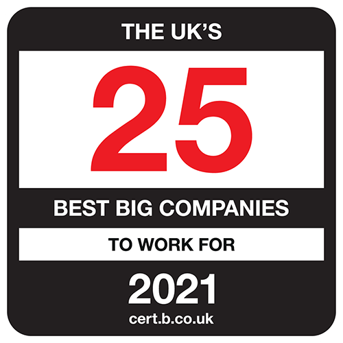 The UK's 25 Best Big Companies to Work For list logo