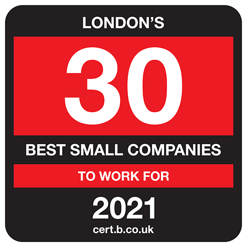 London's 30 Best Small Companies to Work For list logo