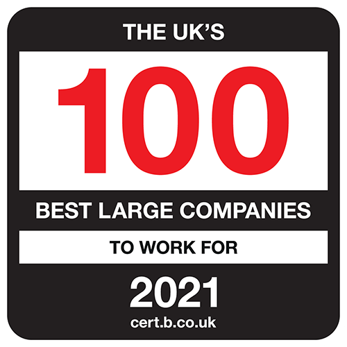 The UK's 100 Best Large Companies to Work For list logo