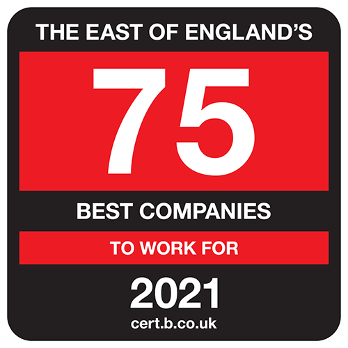 The East of England's 75 Best Companies to Work For list logo