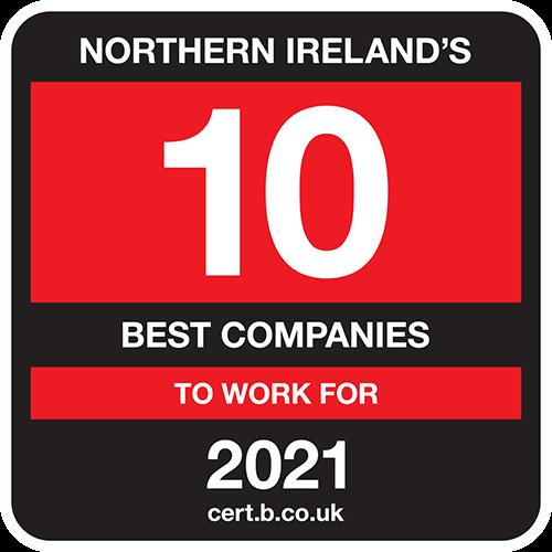Northern Ireland's 10 Best Companies to Work For list logo