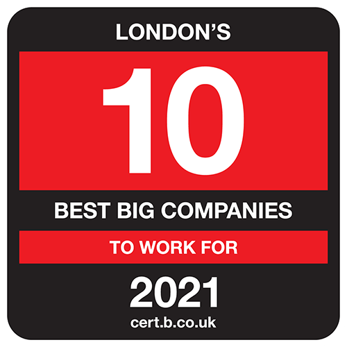 London's 10 Best Big Companies to Work For list logo
