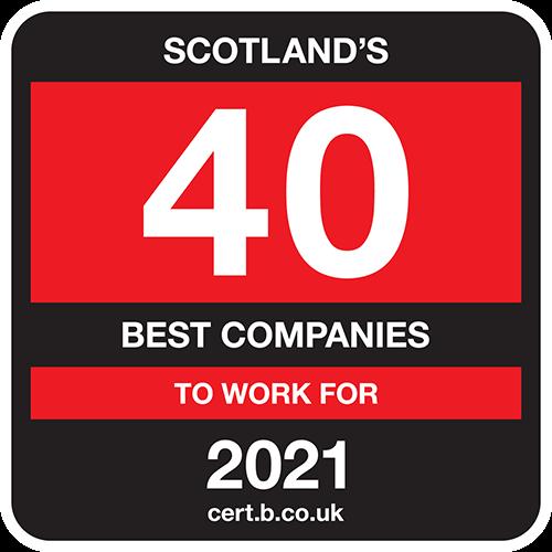 Scotland's 40 Best Companies to Work For list logo