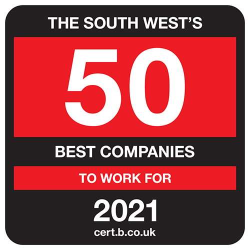 The South West's 50 Best Companies to Work For list logo