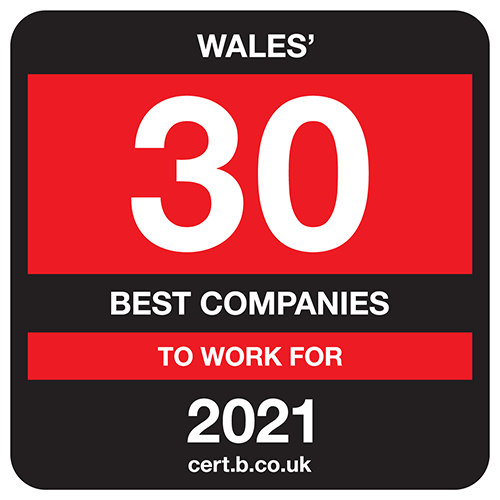 Wales' 30 Best Companies to Work For list logo