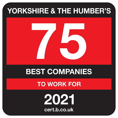 Yorkshire and The Humber's 75 Best Companies to Work For list logo