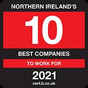 Northern Irelands 10 Best Companies to Work for 2021 Logo