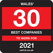 Wales' 30 Best Companies to Work for 2021 Logo