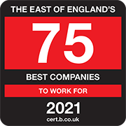 The East of Englands 75 Best Companies to Work For 2021 Logo