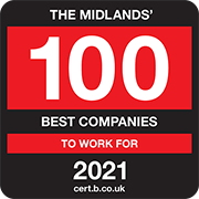 The Middlands 100 Best Companies to Work for 2021 Logo