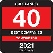 Scotland's 40 Best Companies to Work for 2021 Logo