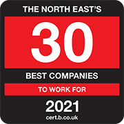 The North East's 30 Best Companies to Work for 2021 Logo