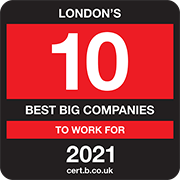London's 10 Best Big Companies to Work For 2021 Logo