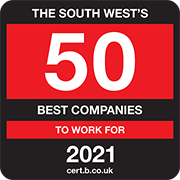 The South West's 50 Best Companies to Work for 2021 Logo