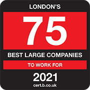 London's 75 Best Large Companies to Work For 2021 Logo