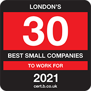 London's 30 Best Small Companies to Work For 2021 Logo