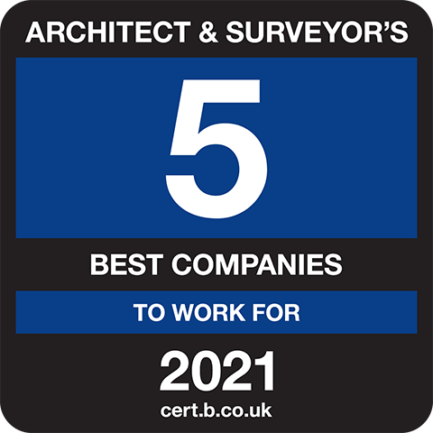 Architects and Surveyor's 5 Best Companies to Work For 2021 Logo