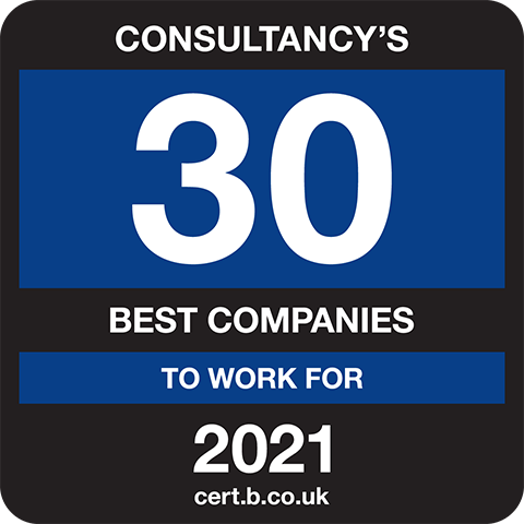 Consultancy's 30 Best Companies to Work For 2021 Logo