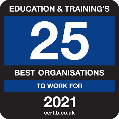 Eduation and Training's 25 Best Companies to Work For 2021 Logo