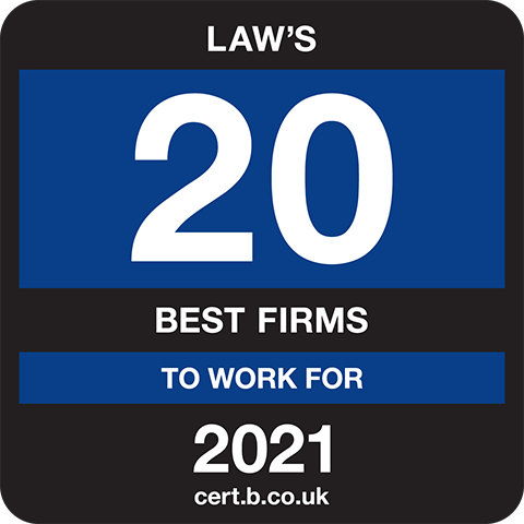Law's 20 Best Companies to Work For 2021 Logo