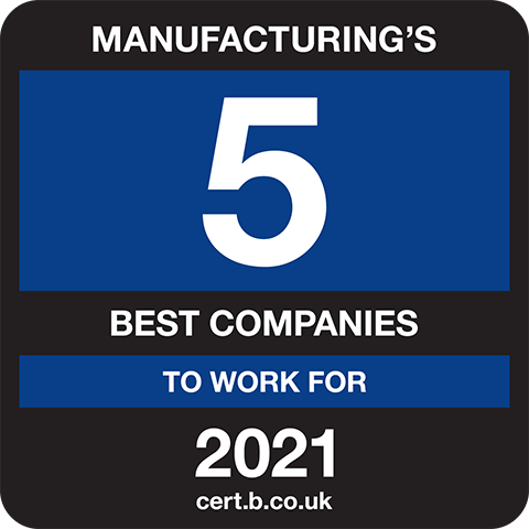 Manufacturing's 5 Best Companies to Work For 2021 Logo