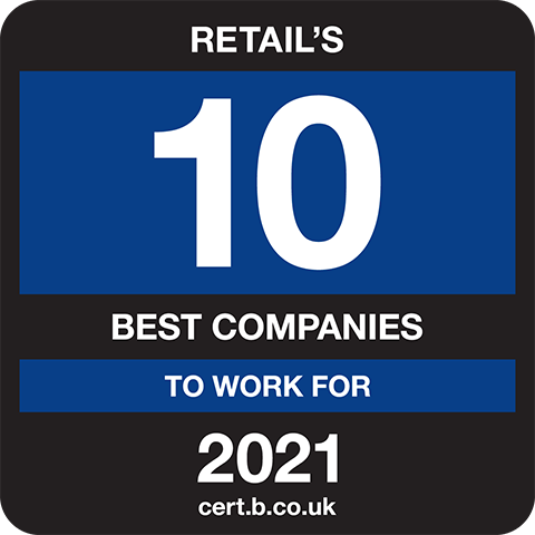 Retails 10 Best Companies to Work for 2021 Logo
