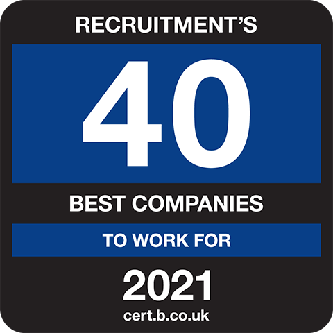 Recruitment's 40 Best Companies to Work for 2021 Logo