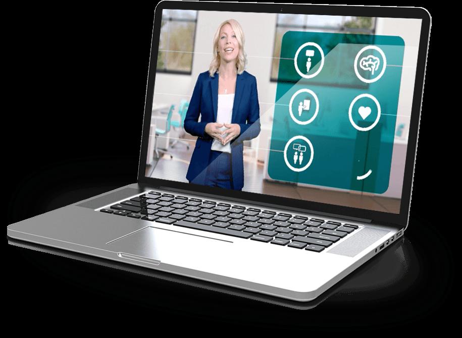 A laptop showing engagement workshop content