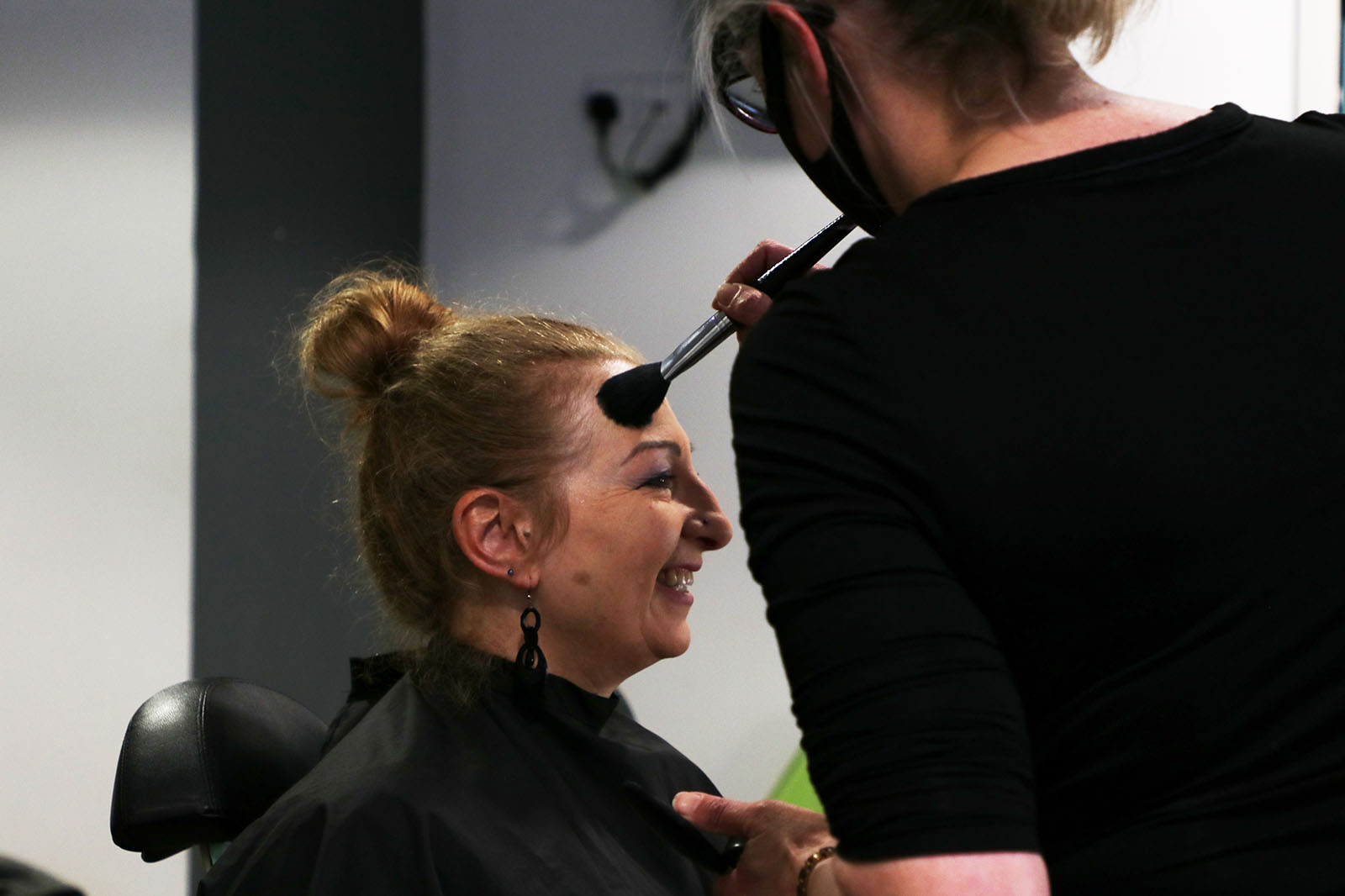 CEO of Inspire North Ruth Kettle in the hair and makeup chair at Best Companies Live