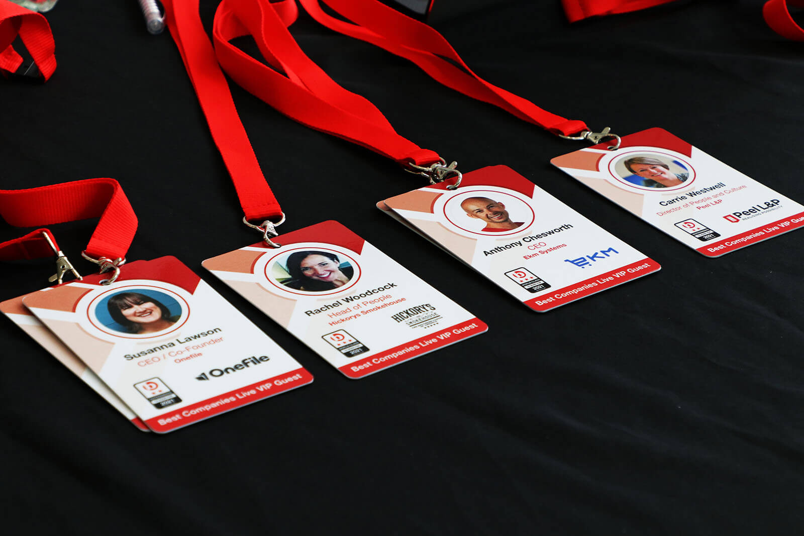 Four Special Guests VIP badges for Best Companies Live