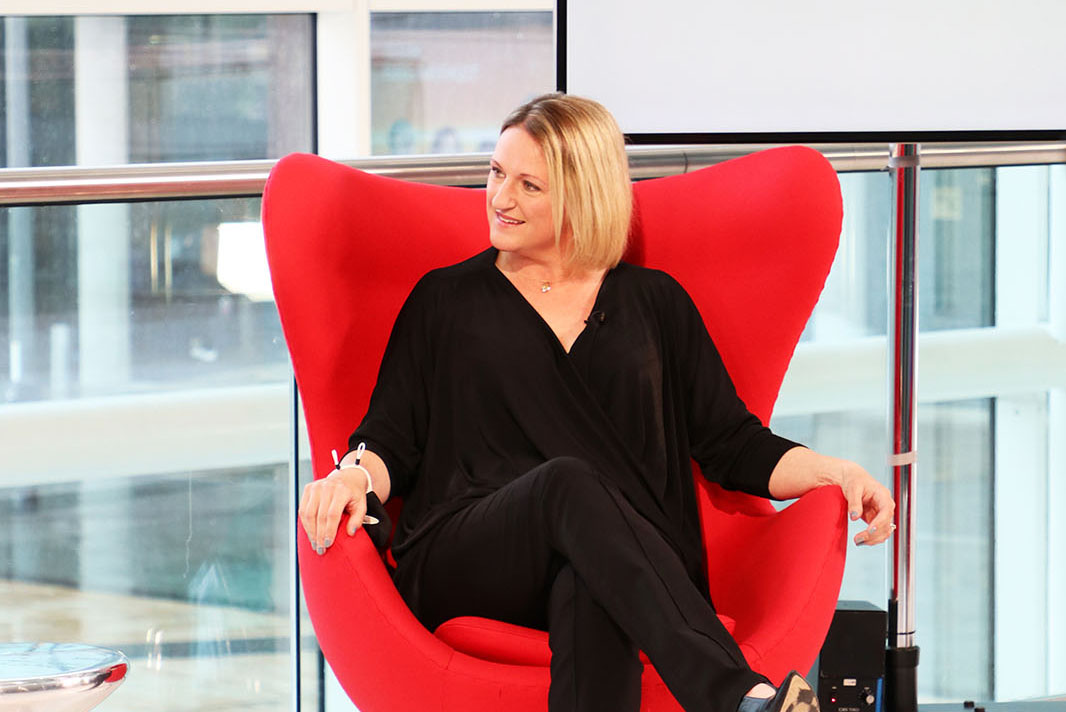 Director of People and Culture at Peel L&P Carrie Westwell on the set of Best Companies Live